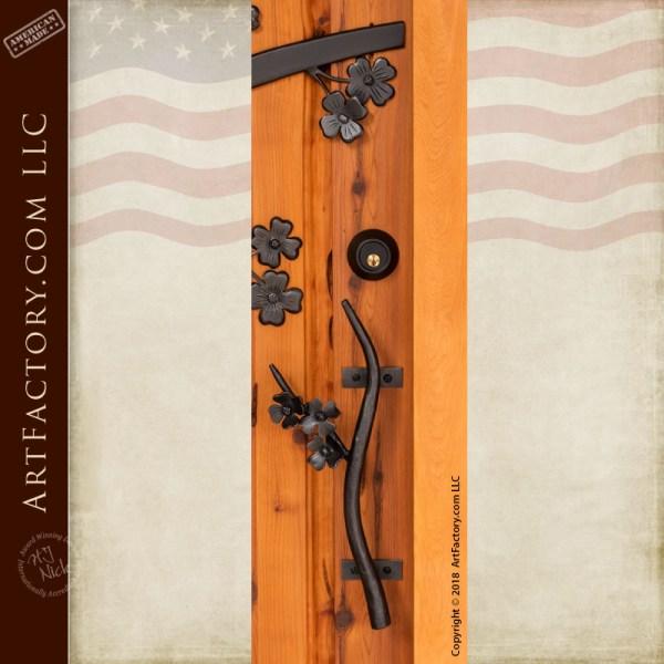 dogwood blossom door pull