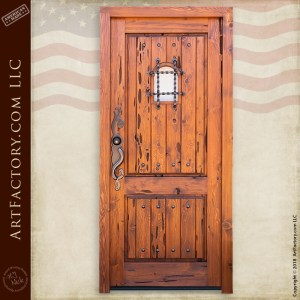 handmade wooden speakeasy door