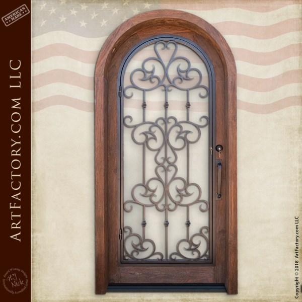 arched security door