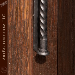 medieval spearhead door handle