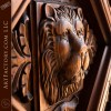 Custom Hand Carved Lion Arch Door