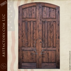Awe Inspiring Log Cabin Doors Solid Wood With Hand Forged Hardware Interior Design Ideas Inesswwsoteloinfo