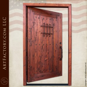classic wooden speakeasy door
