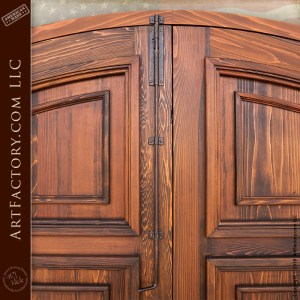 Hand Carved Lion Knocker Arch Door