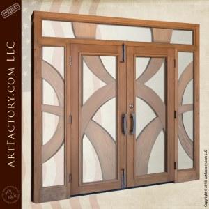 Custom Double Door with Sidelights