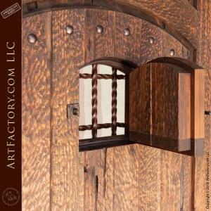 Custom Mountain Cabin Door with Speakeasy Grill