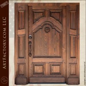 Custom Wood Panel Door