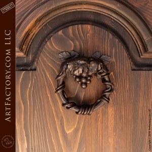 iron grapevine door knocker