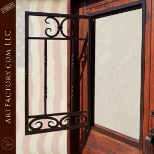 hinged window gril