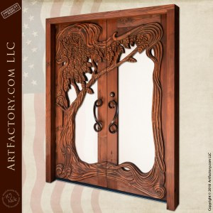Art Nouveau Hand Carved Door