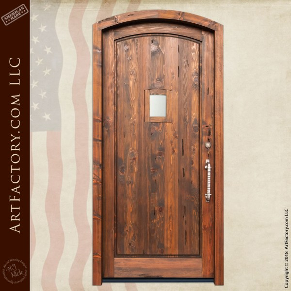 Rustic Wooden Portal Door