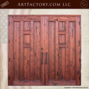 Craftsman Wood Panel Double Doors