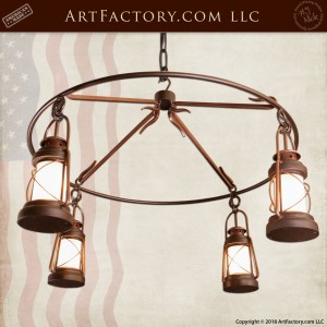 Wrought Iron Lantern Chandelier