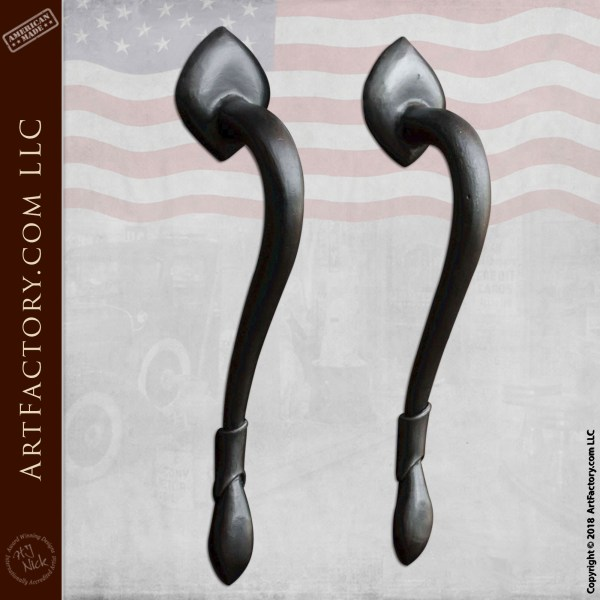 European Villa Door Pulls: Custom Hand Forged By Master Blacksmiths - HH2495