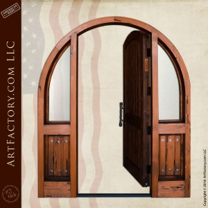 Custom Arched Top Door with Sidelights