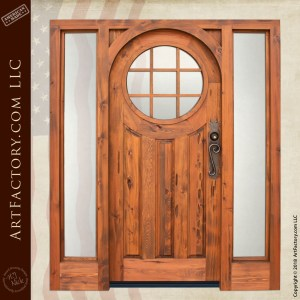 Custom Door with Sun Window and Sidelights