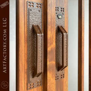 hand forged iron craftsman door handles