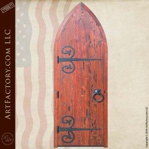 custom cathedral top wood door