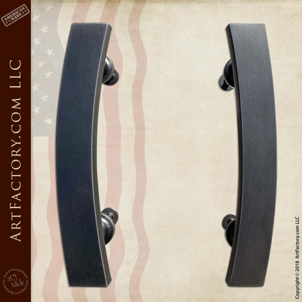 Modern Art Deco Interior Door Handles: Blacksmith Hand Forged Custom Hardware Scaled to fit the Size of Your Door