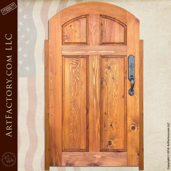 Custom Wood Courtyard Gate