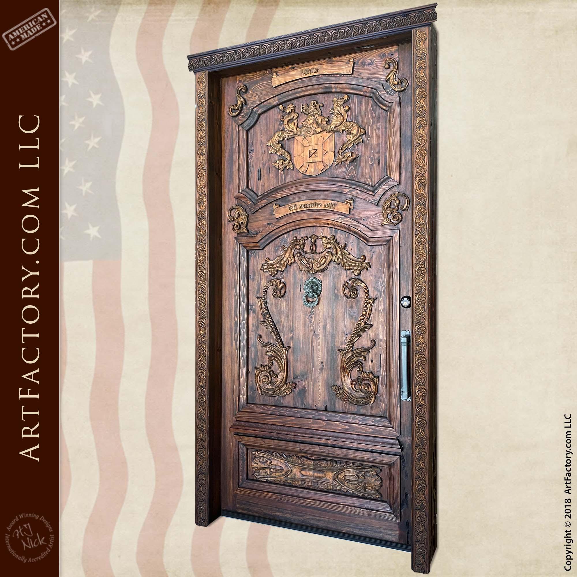 English crest custom door