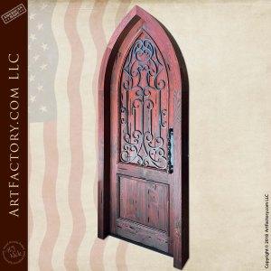wooden cathedral door front