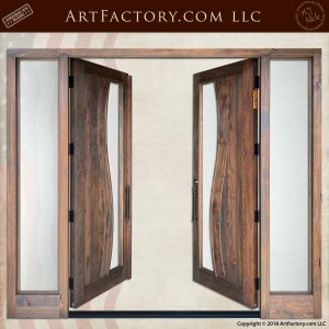 Contemporary Art Nouveau Double Doors open position