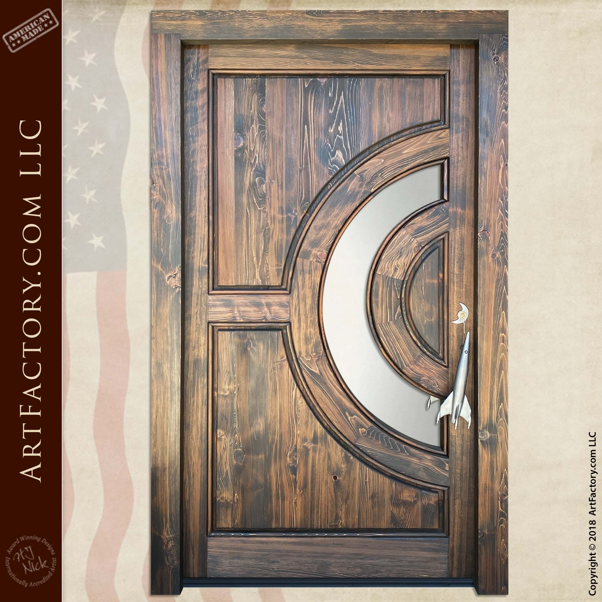 custom astronomy theme door