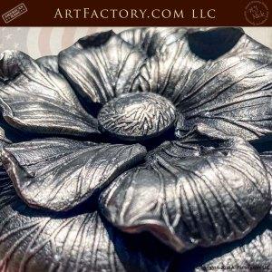 Custom Iron Camellia Flower Door Pull