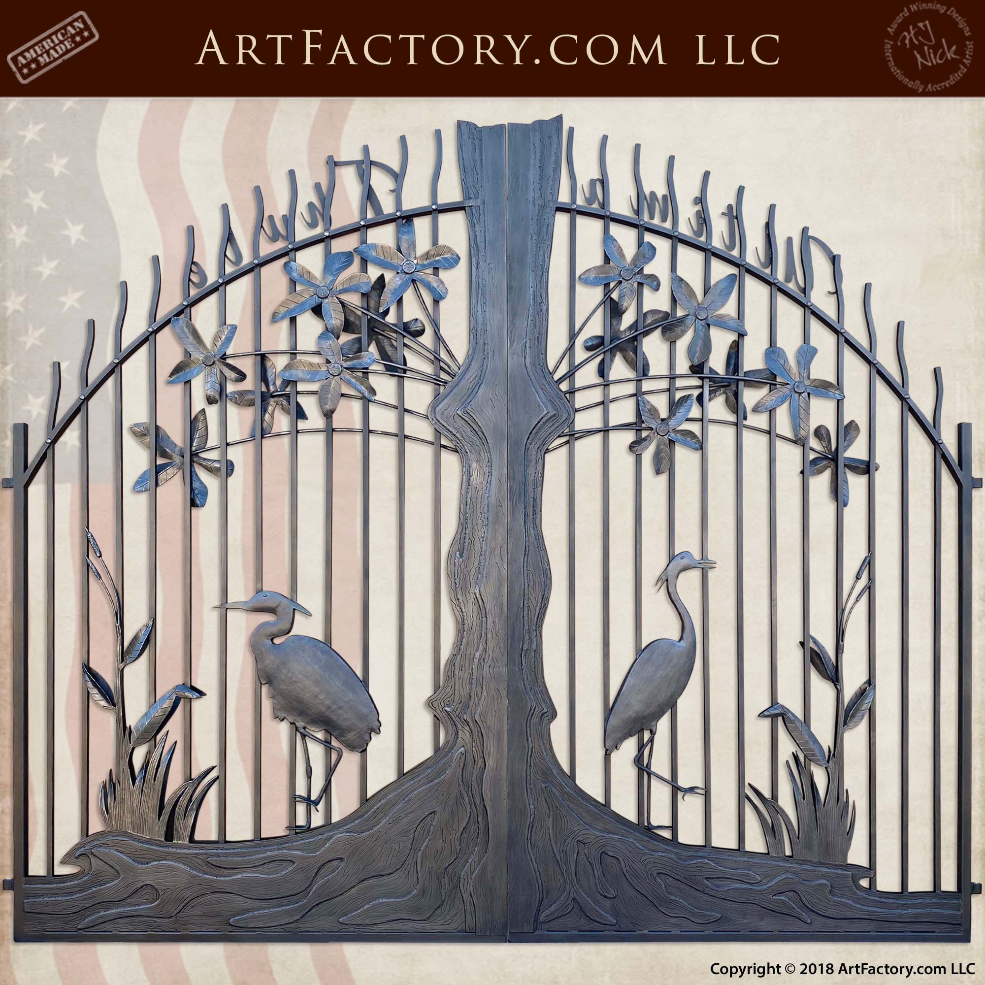 Fine Art Iron Estate Gate back