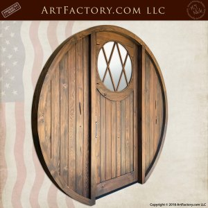 Custom Round Hobbit Door angle