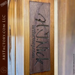 Hand-Carved Fly Fishing Lure Door