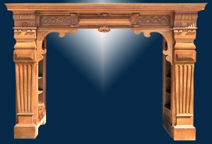 Fire Place Mantle - Designs From The Historical Record- FPM01112