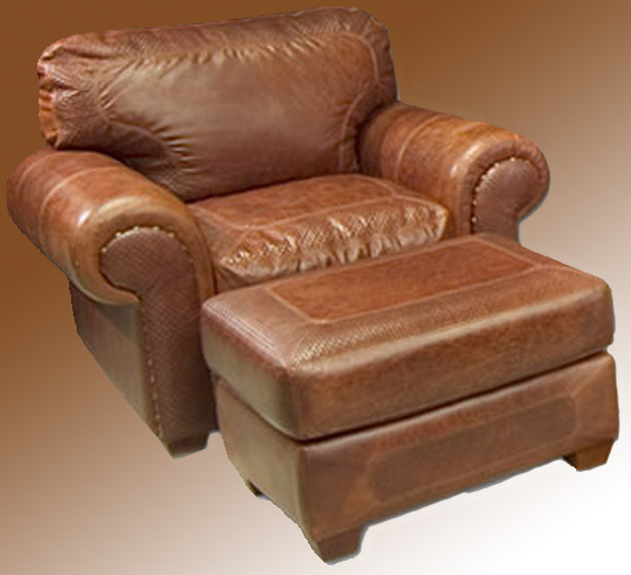 Superbe Chair And Ottoman   Full Grain Leather Arm Chair   983035 ...