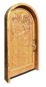 Arched Door - Customer Furnished  Photo Hand Carved - 2273HC