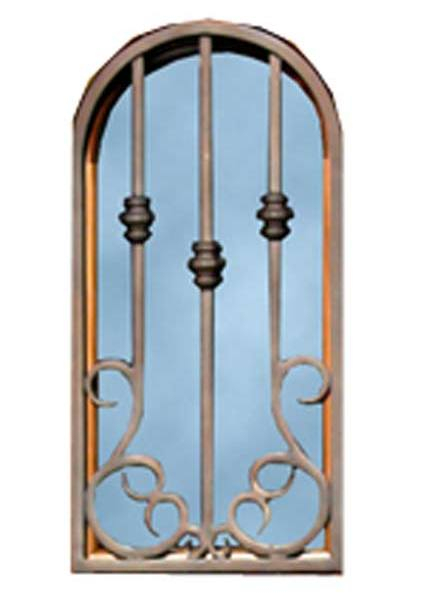 Door Grill - Wrought Iron - Handforged Patina Finished - GR8030