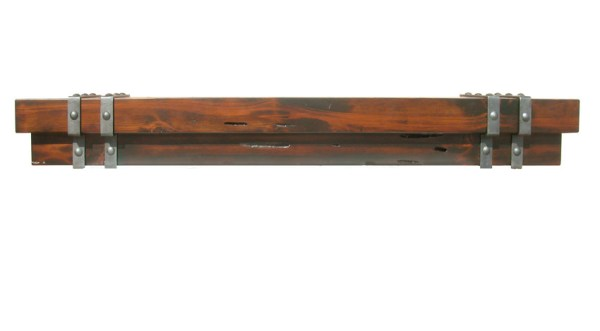 Fireplace Mantle - Wrought Iron Exotic Cedar - FPM888