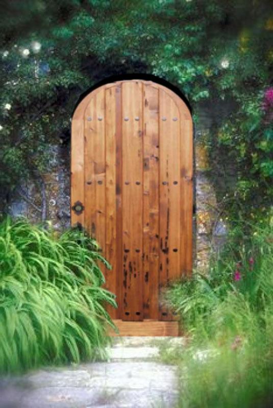 Custom Wood Garden Entry Gates Arched Top Gate