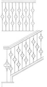 Stair Railing Designs ISR602