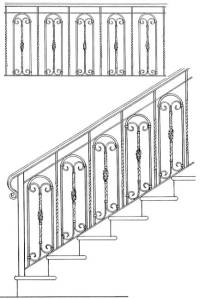Stair Railing Designs ISR604