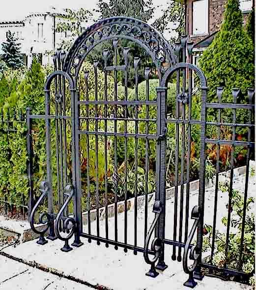 Conciergerie Custom Made Wrought Iron Garden Gate - 8614WI