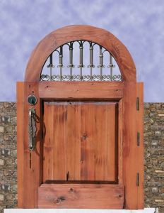 Garden Or Court Yard Gate With Wrought Iron - 7042WI
