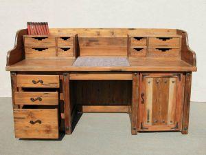 Custom Hand Carved Desk - Rustic Gamble House Design - CBD610