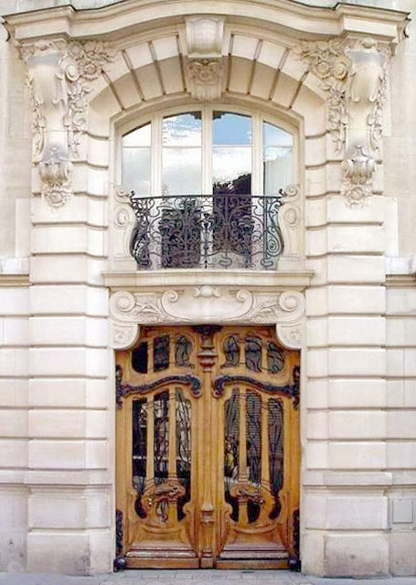 Art Nouveau Door French 19th Cen