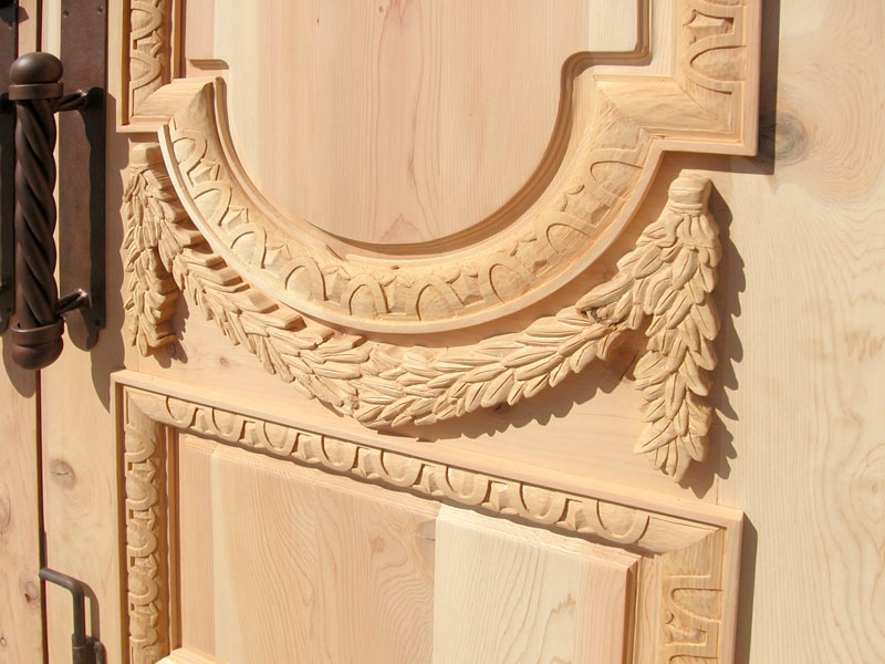 Hand Carved Entry Double Doors Greek Style 3346BHC