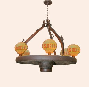 Shell Oil Chandelier