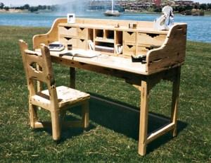 Rustic Desk - Cubby Top Secretarial Desk - SWOD161B