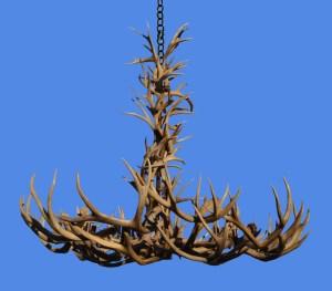 Deer & Elk Natural Antler Chandelier  - LA946