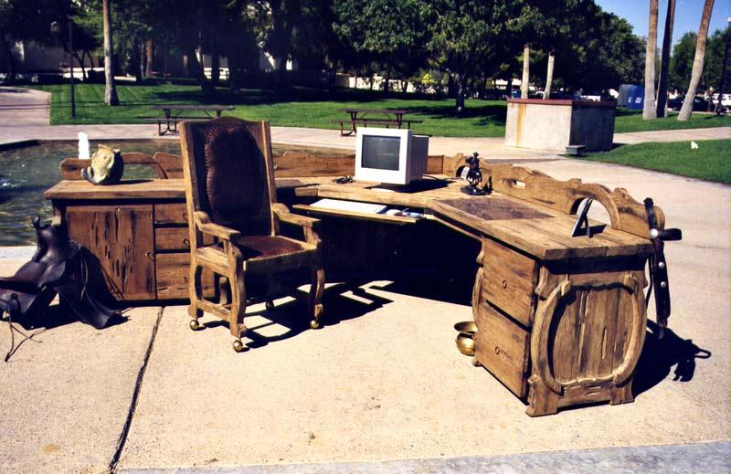 Superbe ... Office Desk   Western Executive Desk Set   SPWS449