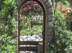 Garden Gate Hand Forged Scroll And Rose Design - GG488
